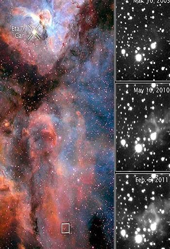 مشاهده ردپای انفجار کیهانی 170 ساله در آسمان