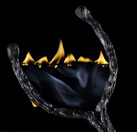 الهام از کبریتهای سوخته