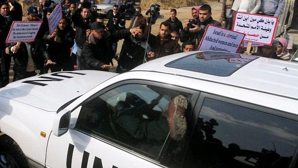 خودرو دبیر کل سازمان ملل چگونه از غزه گذشت؟
