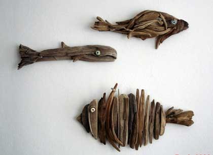 چطور از چوبهای ساحل در دکوراسیون استفاده کنیم؟
