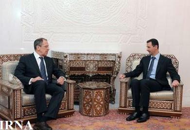 دیدار وزیر خارجه روسیه با بشار اسد