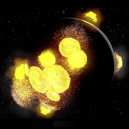 تاریخچه 4.5 میلیارد ساله ماه