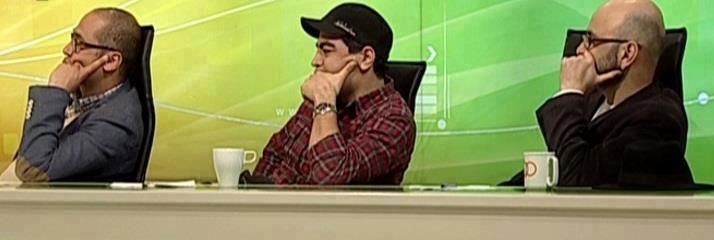 تصاویر حضور رامبدجوان، سروش صحت و حبیب رضایی در برنامه 90