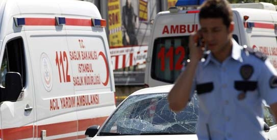 A blast on Turkish police bus in Istanbul