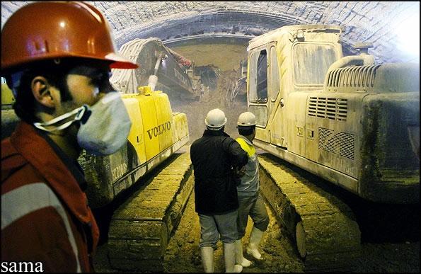 پرونده تصویری از پایان حفاری تونل نیایش