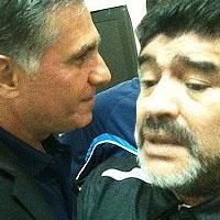 مارادونا خطاب به کیروش: دوست دارم مربی ایران شوم اما شما هستید