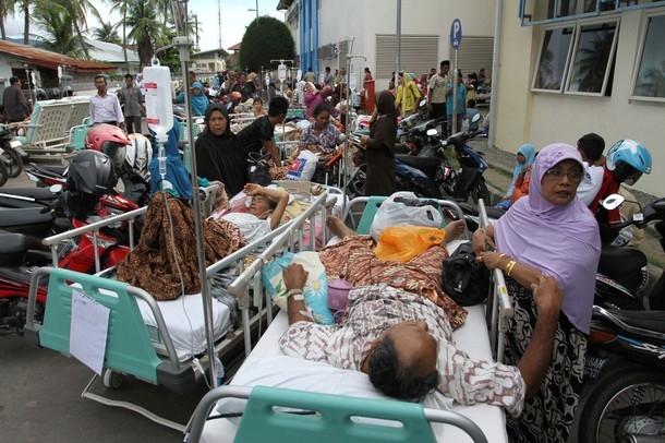 تصاویر زلزله 8.9 ریشتری اندونزی و هشدار سونامی