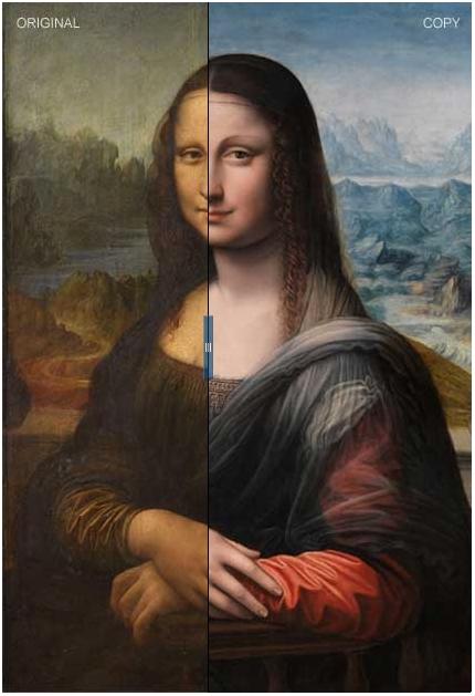تصاویر نسخه کپی تابلوی مونالیزا که همزمان با نسخه اصلی خلق شده است