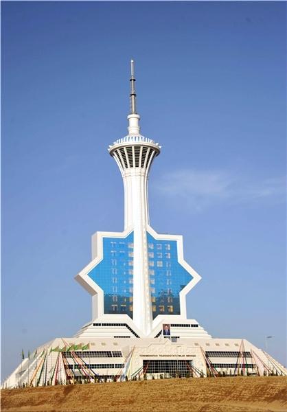 آشنایی با برج رادیو تلویزیونی اوغوزخان - ترکمنستان