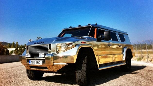 تصاویر خودروی زرهپوش یک میلیون دلاری از جنس طلا