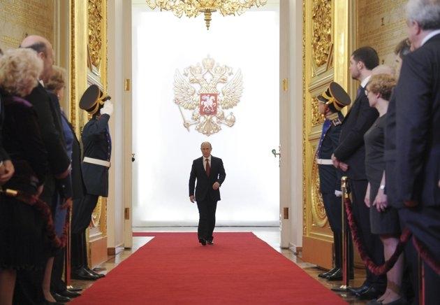 تصاویری از آغاز بهکار رسمی پوتین