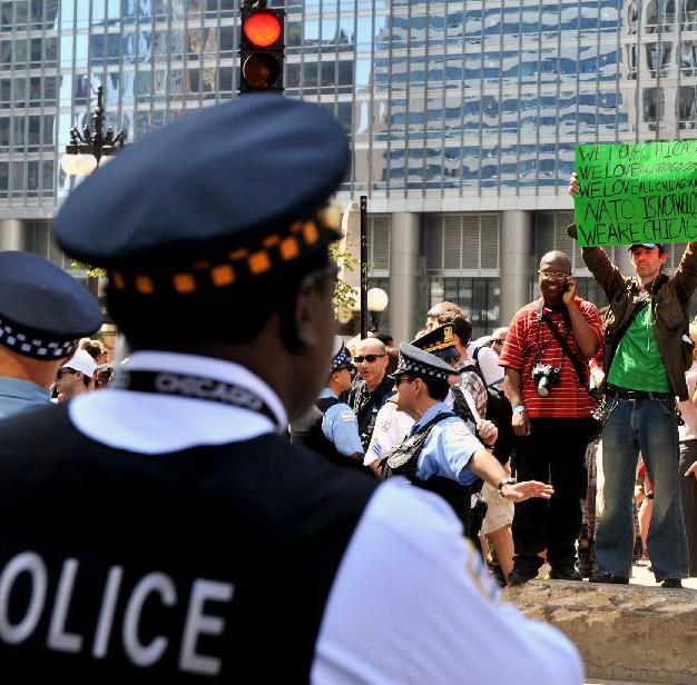 تظاهرات گسترده در شیکاگو در آستانه برگزاری اجلاس سران ناتو