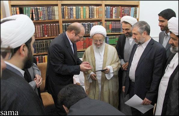 دیدار دکتر محمد باقر قالیباف با مراجع عظام تقلید در قم