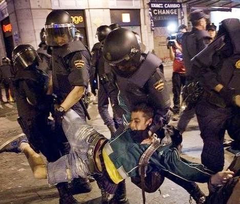 تظاهرات در مادرید؛ 18 تظاهرکننده اسپانیایی دستگیر شدند