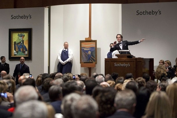 "The Scream"" painted by Edvard Munch at Sotheby"