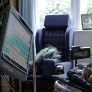 پیام اینترنتی یک فرد معلول با حرکت چشم