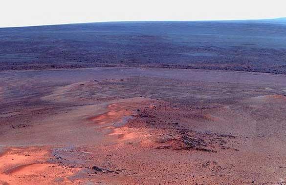 دانههای برف مریخی