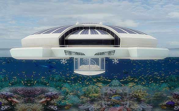 آشنایی با هتل شناور خورشیدی - ایتالیا