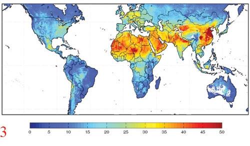 نقشه جهانی ریزگرد