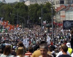 دهها هزار مخالف پوتین به خیابانهای مسکو آمدند