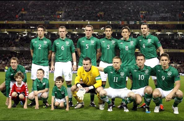 بازیکنان تیم ملی جمهوری ایرلند در یورو 2012