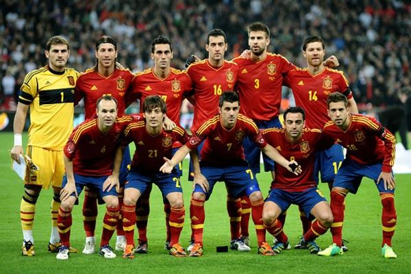 بازیکنان تیم ملی اسپانیا در جام ملتهای اروپا 2012