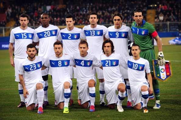 بازیکنان تیم ملی ایتالیا در یورو 2012