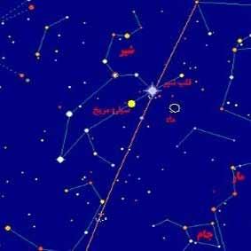 مقارنه ماه و ستاره قلب الاسد در شامگاه 11 تیر
