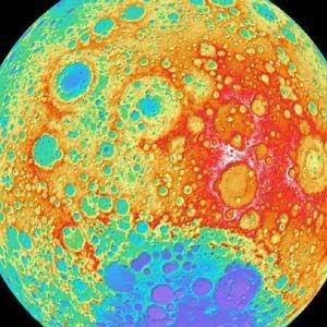 نقشه توپوگرافی ماه با واضحترین تصویر