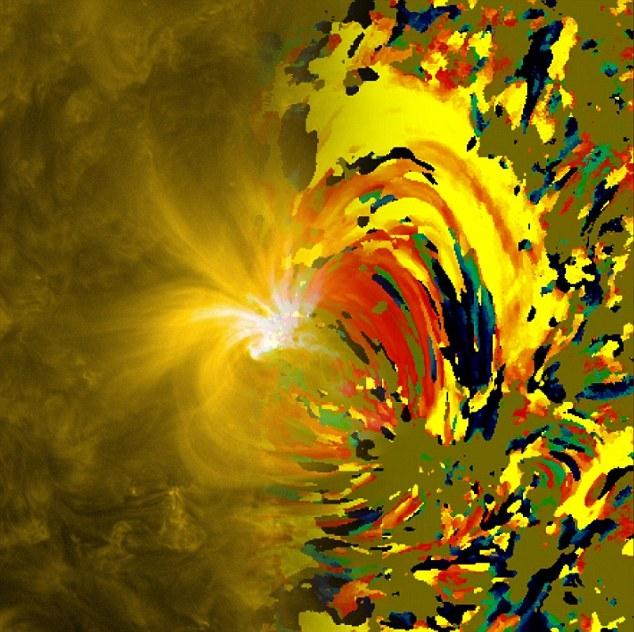 نقشهای از خورشید که به نقاشی ونگوک شبیه است