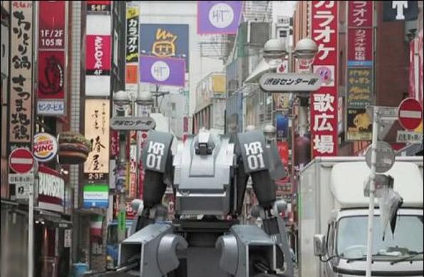 ساخت روبات جنگی 4 متری که با آیفون کنترل میشود
