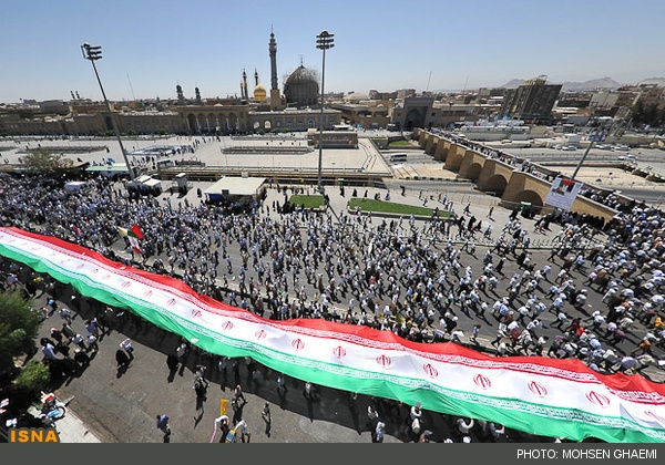 گزارش تصویری از راهپیمایی روز جهانی قدس