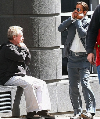 تصاویر برد پیت و بدلکار دوقلویش در فیلم جدید ریدلی اسکات
