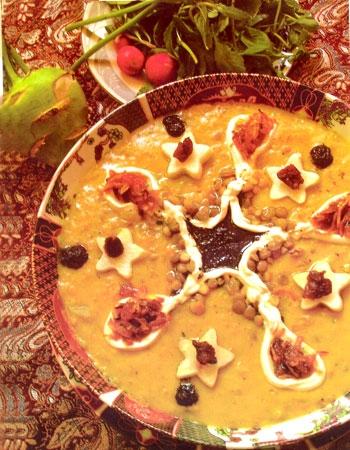 آش کلم قمری غذای محلی تویسرکان
