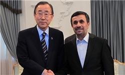احمدی نژاد - بان کی مون