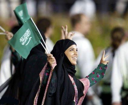 زن ورزشکار عربستان - المپیک لندن
