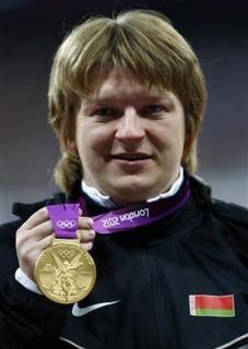 مدال طلای المپیک زن میدانیکار بلاروسی پس گرفته شد