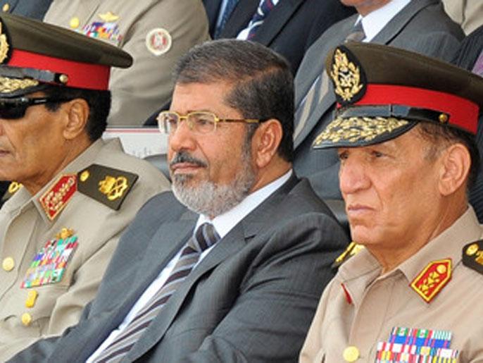 دفاع محمدمرسی از برکناری فرماندهان ارتش