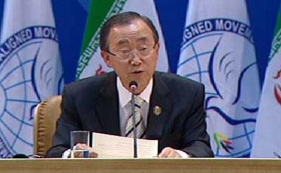 سخنان بان کیمون در مراسم افتتاح شانزدهمین اجلاس سران غیرمتعهدها