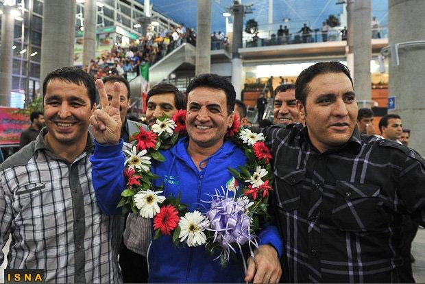 استقبال پرشور از فرنگیکاران در بازگشت از المپیک 2012