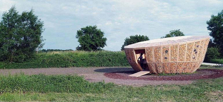 تصاویر خانهای از جنس ذرت