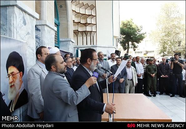 تجمع دانشجویان و جامعه قرآنی کشور در میدان فلسطین برگزار شد