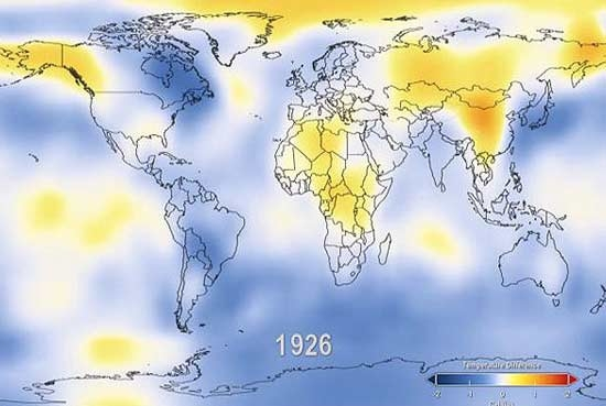 روند گرمایش زمین طی 131 سال