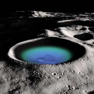 آب یخ زده در گودالهای تاریک ماه