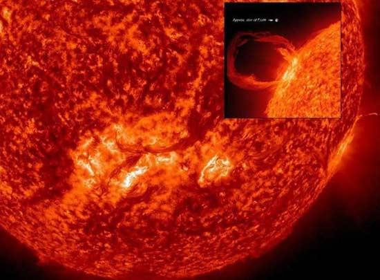 تازیانه خورشید به سوی زمین