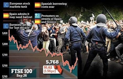 بحران اقتصادی بار دیگر هزاران اسپانیایی را به خیابان کشاند
