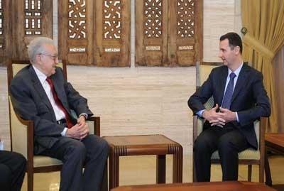 دیدار رئیس جمهوری سوریه با فرستاده ویژه سازمان ملل