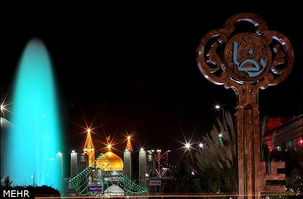تصاویر آذینبندی خیابانهای مشهد در آستانه سالروز میلاد امام رضا