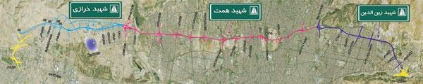 54 کیلومتر بزرگراه بدون چراغ قرمز