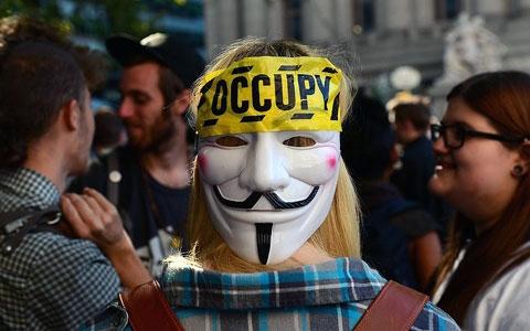 تصاویری از مراسم یکسالگی جنبش والاستریت